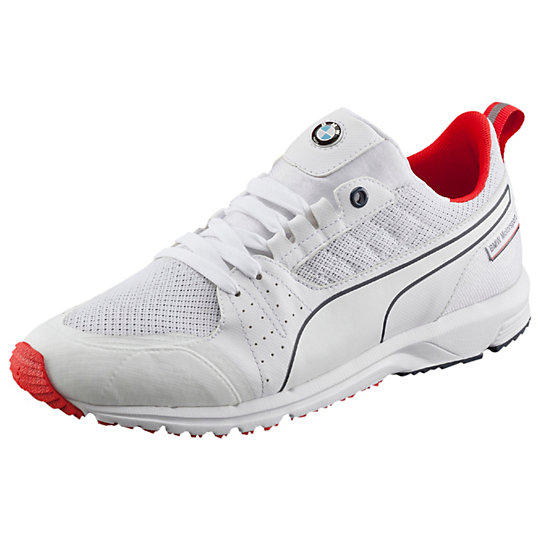 Puma BMW NIGHTCAT PITLANE SHOES white-high risk red