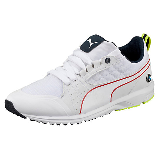 Puma BMW PITLANE SHOES white-white-safety yellow