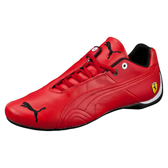 Puma FERRARI FUTURE CAT LEATHER SHOES rosso corsa-rosso corsa