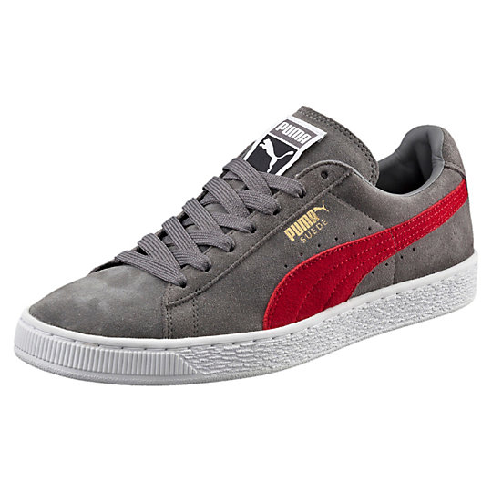 Puma SUEDE CLASSIC SNEAKERS Steel Gray-Barbados Cherry
