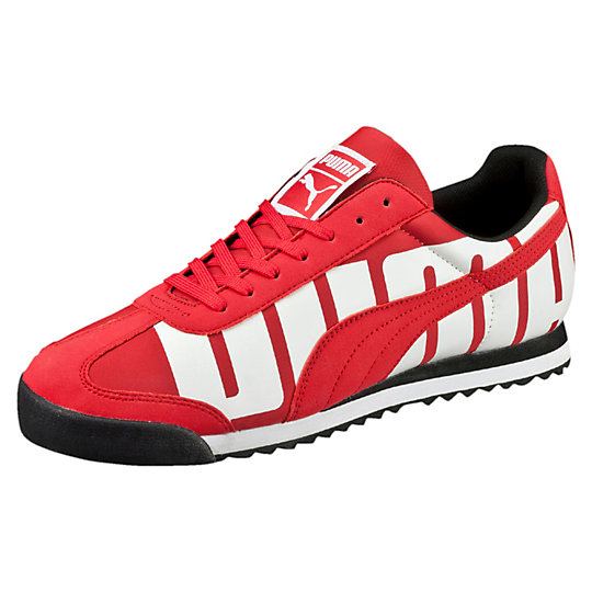 Puma ROMA BIG LOGO SNEAKERS high risk red-white-black
