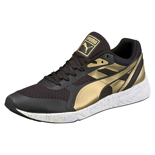 Puma 698 IGNITE METALLIC SNEAKERS black-metallic gold-white