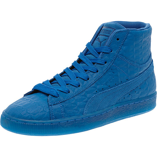 Puma SUEDE ME ICED MID SNEAKERS royal-white