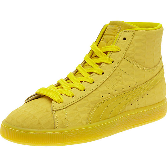 Puma SUEDE ME ICED MID SNEAKERS buttercup-white