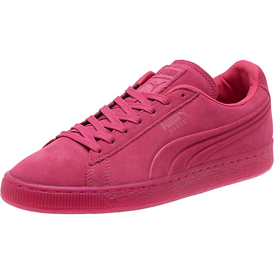 Puma SUEDE EMBOSSED ICED FLUO SNEAKERS beetroot purple