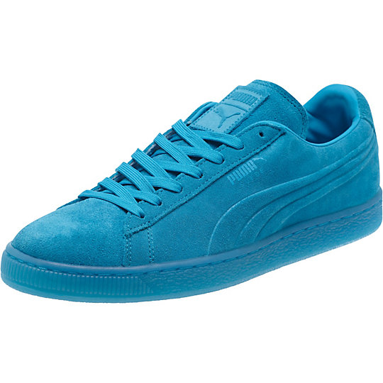 Puma SUEDE EMBOSSED ICED FLUO SNEAKERS atomic blue