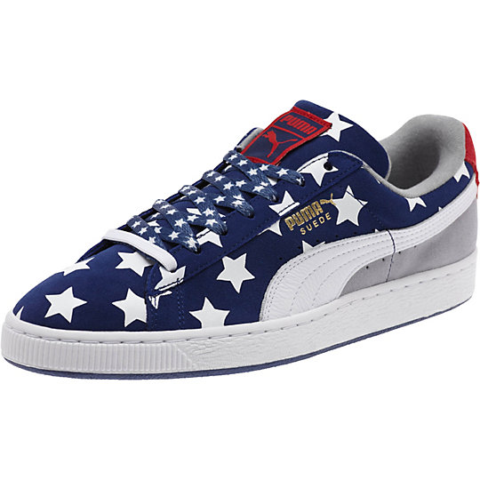 Puma AMERICANA SUEDE SNEAKERS twilight blue-white-high risk red