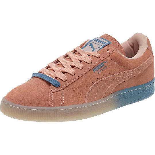 Puma PINK DOLPHIN SUEDE SNEAKERS coral pink-blue heaven
