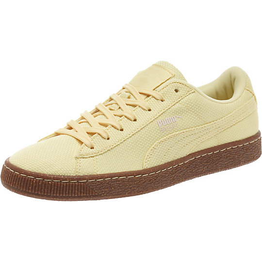 Puma BASKET RIPSTOP ICE CREAM SNEAKERS mellow yellow-white swan