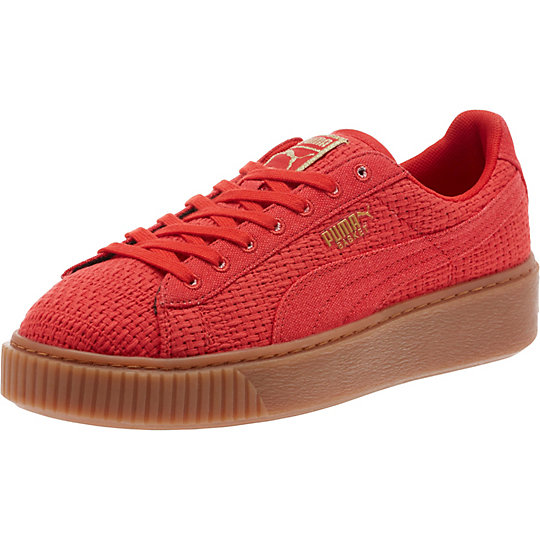 Puma Basket Platform Woven Shoes