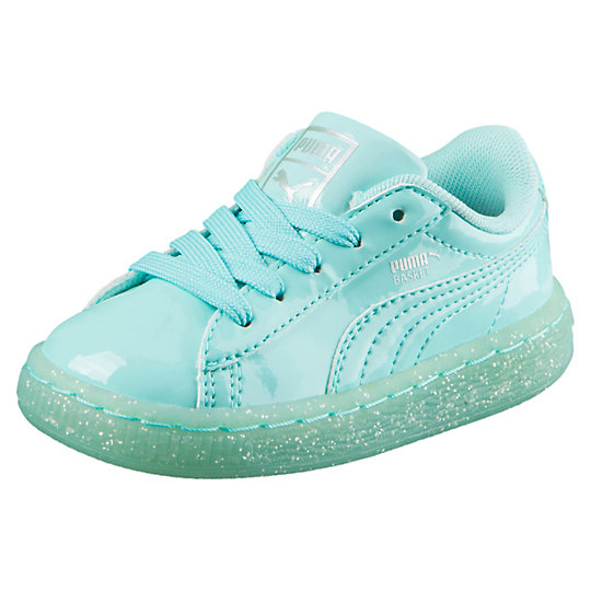 Puma Basket Patent Iced Glitter Kids Sneakers