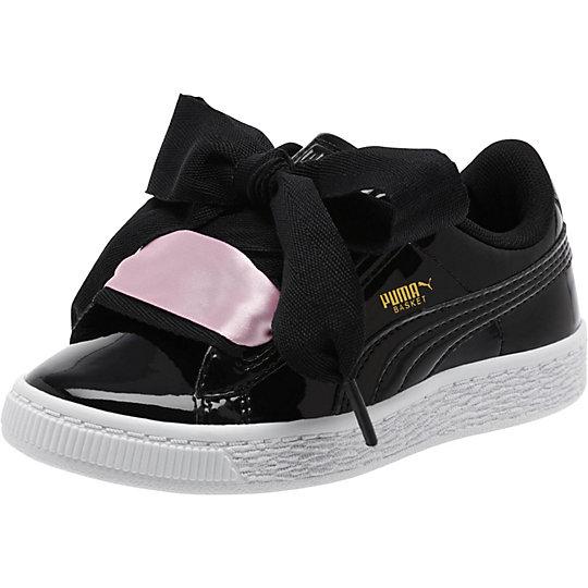 Puma Basket Heart Patent Preschool Sneakers On Sale | 363352-01