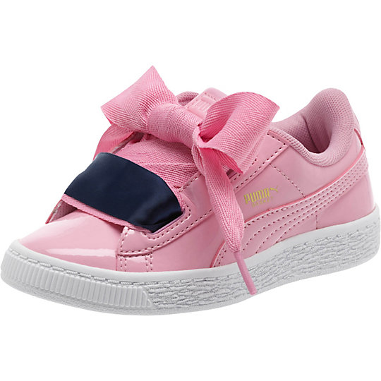 Puma Basket Heart Patent Preschool Sneakers