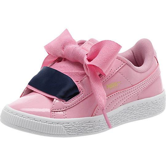 Details about Puma Basket Heart Patent PreSchool Sneakers Pink