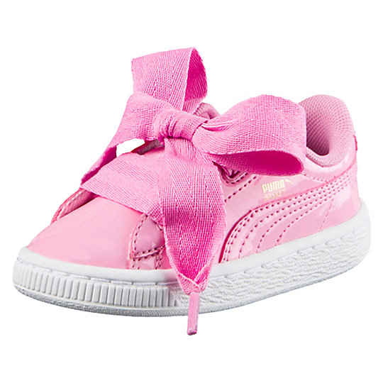 Puma Basket Heart Patent Infant Kids' Sneakers