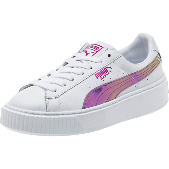 Puma Basket Platform Rainbow JR Sneakers