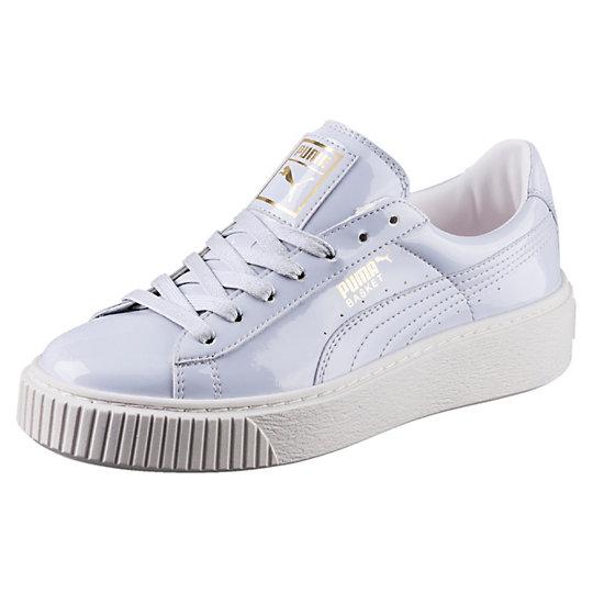 Puma Basket Platform Patent Shoes
